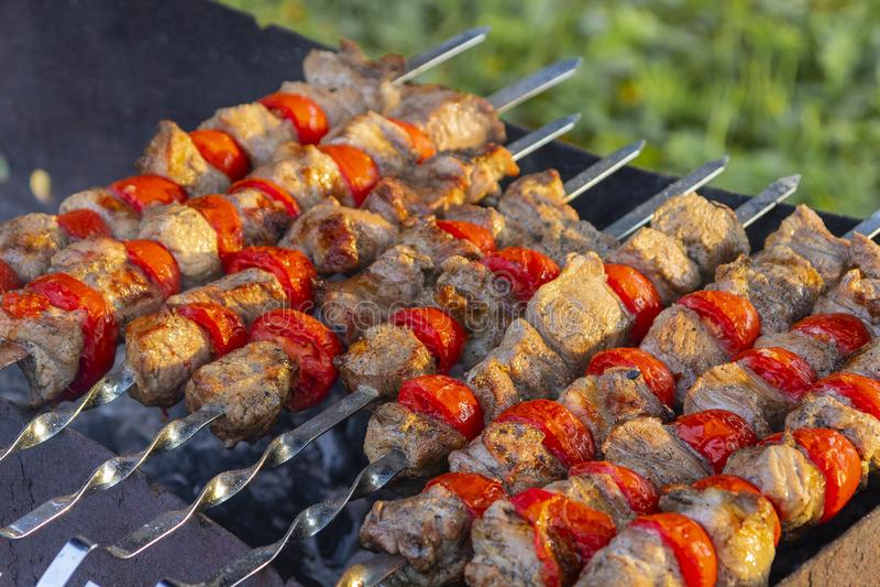 Shashlik Kaukasisches Lebensmittel stockfoto
