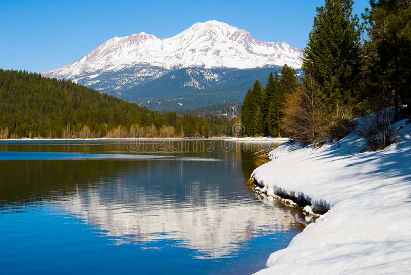 shasta de support image stock