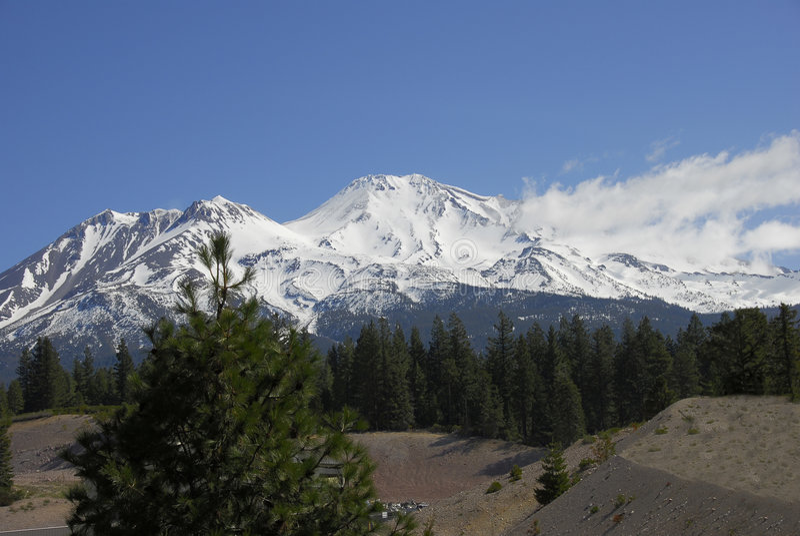 shasta piękno góry zdjęcia stock