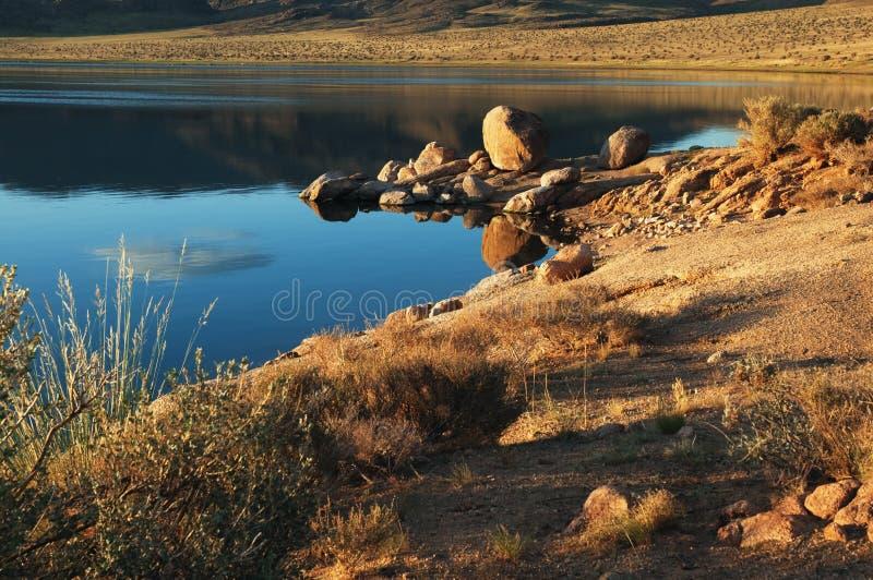 Shatsagay nuur lake in mongolia royalty free stock image