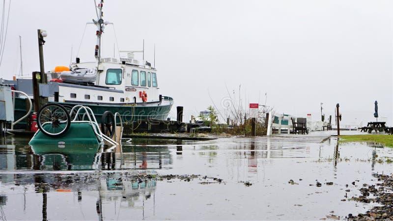 """Shattemuck яхт-клуба полная вода необычно внутри ни """"пасха стоковое изображение"""