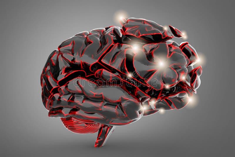 Shattered Brain Brain Disease Stock Illustration ...
