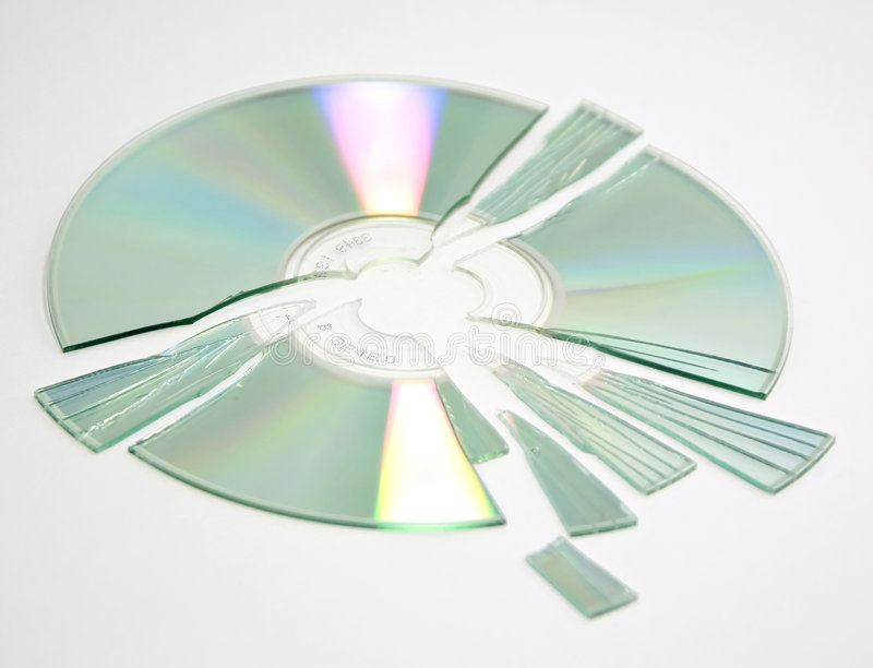 Shattered CD stock photos