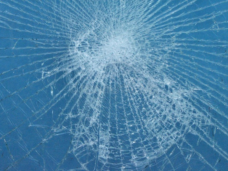 Shattered glass royalty free stock photography