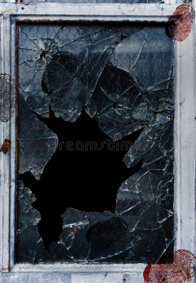Free Shattered Glass Fingerprints Royalty Free Stock Images - 36470609