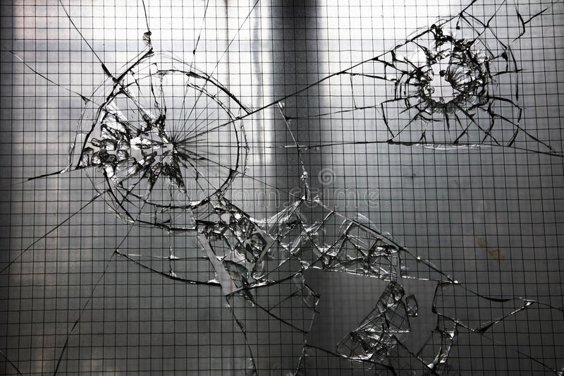 Shattered glass window royalty free stock photography