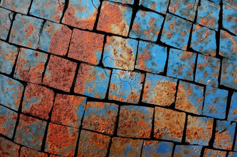 Shattered rusty metal texture stock photos