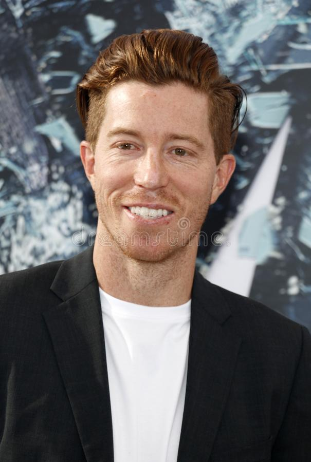 Shaun White. At the World premiere of `Fast stock image