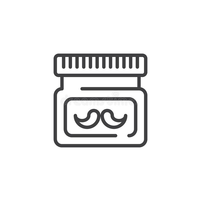 After shave cream line icon vector illustration