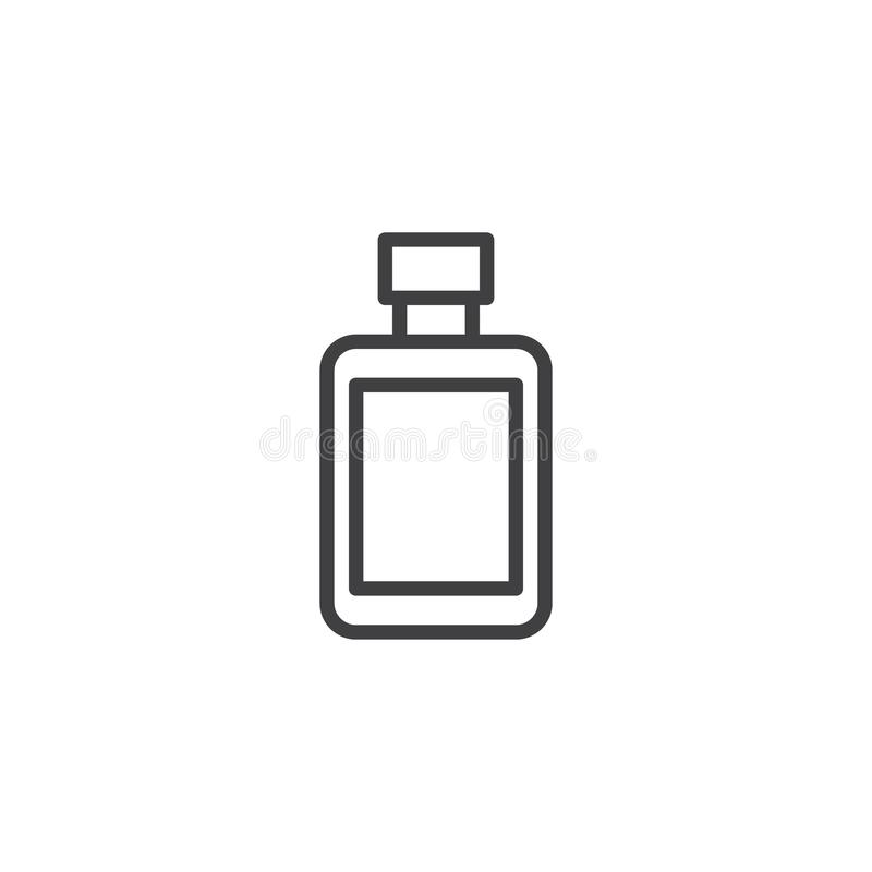 After shave lotion bottle outline icon stock illustration