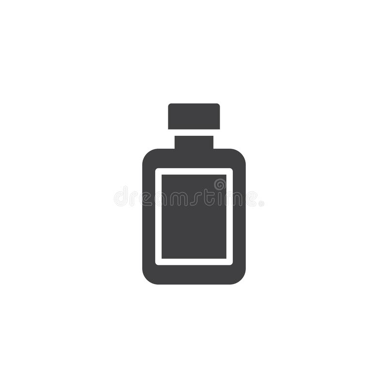 After shave lotion bottle vector icon. Filled flat sign for mobile concept and web design. Barber shop simple solid icon. Symbol, logo illustration. Pixel vector illustration