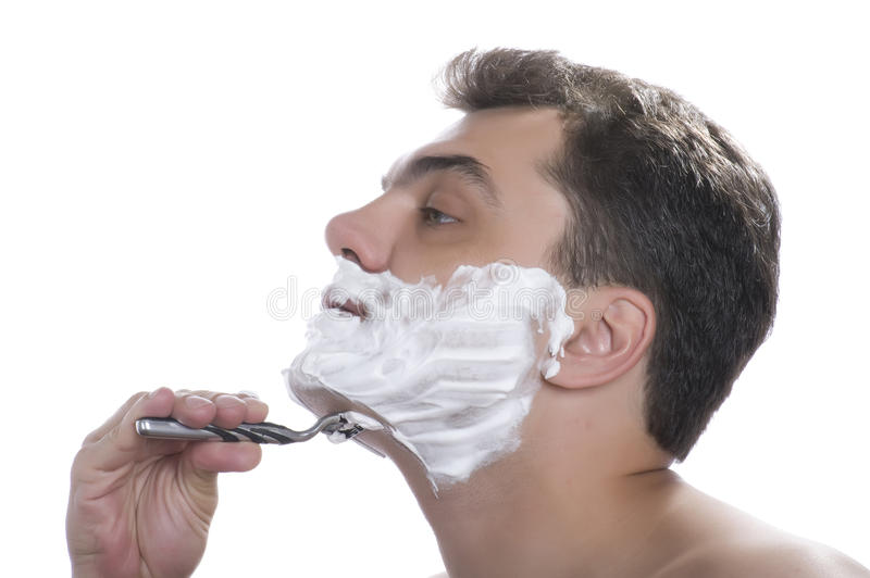 Shave men isolated royalty free stock photos