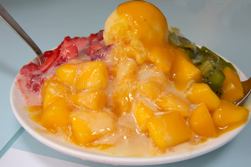 Shaved ice dessert stock image