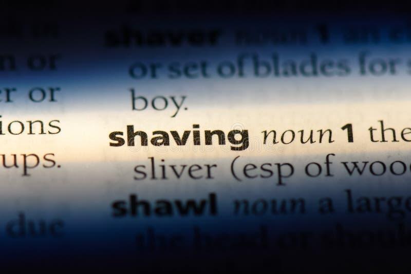shaving stock afbeelding
