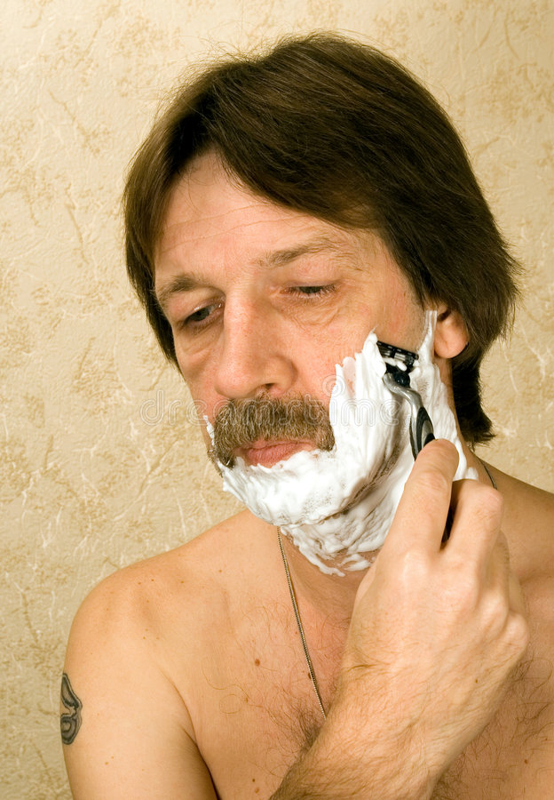 Download Shaving stock photo. Image of hairy, reflection, foam - 1491130