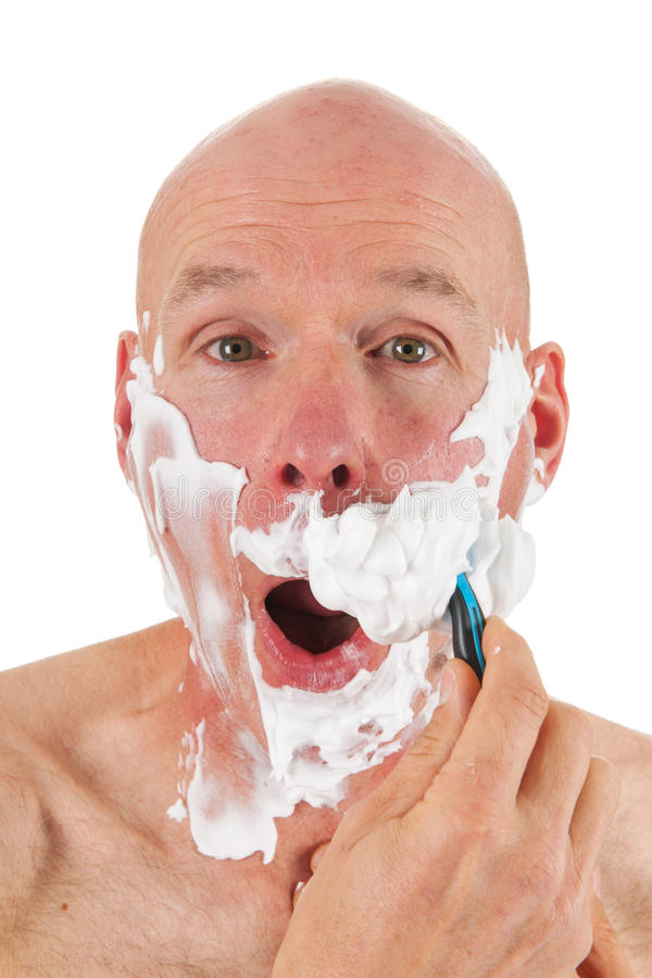 Download Shaving bald man stock image. Image of dairy, moving - 27441991