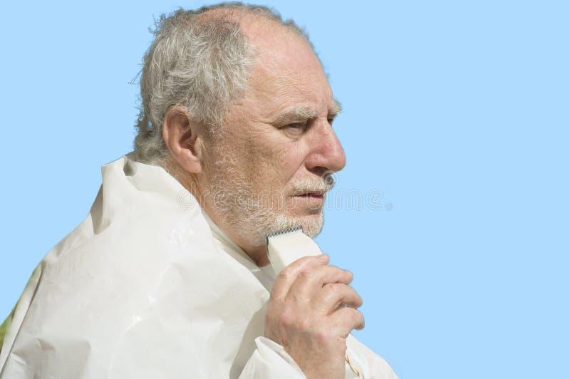 Download Shaving beard stock image. Image of pensionner, retired - 1366485