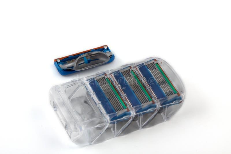 The Shaving Cartridges Stock Photo