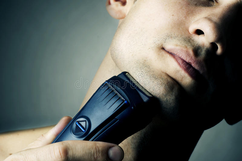 Download Shaving by electric shaver stock image. Image of life - 21659513