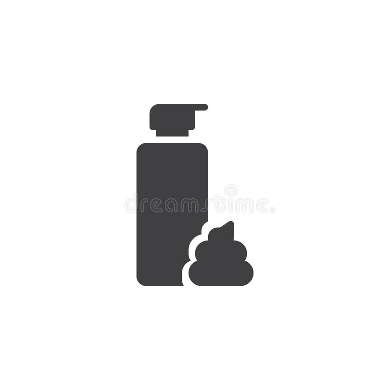 Shaving foam bottle vector icon stock illustration