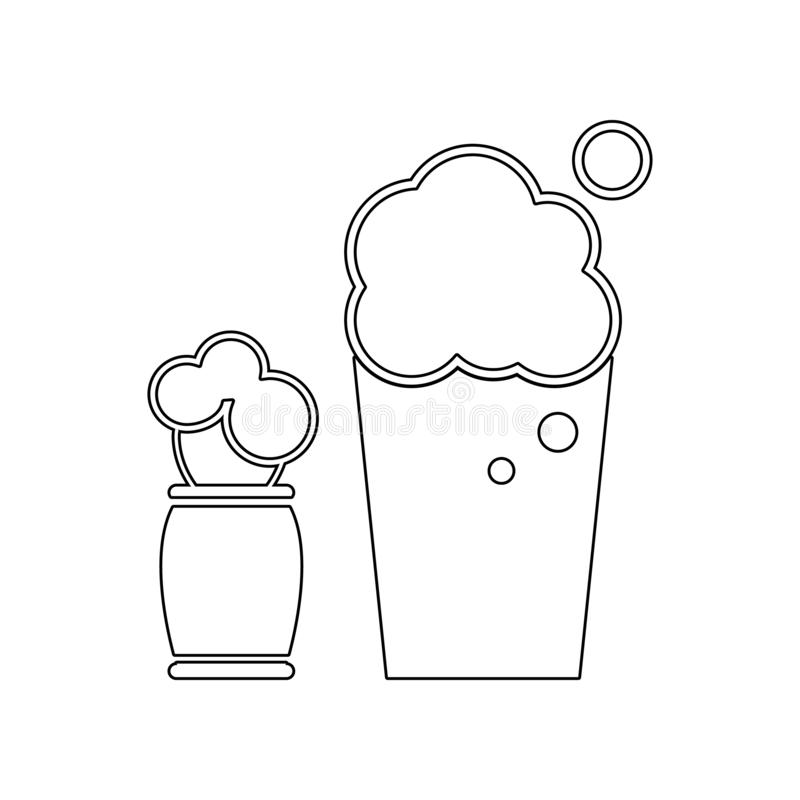 Shaving foam icon. Element of Barber for mobile concept and web apps icon. Outline, thin line icon for website design and. Development, app development on white stock photos