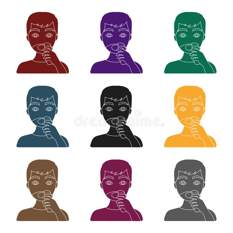 Shaving icon in black style isolated on white background. Skin care symbol stock vector illustration. Shaving icon in black style isolated on white background vector illustration