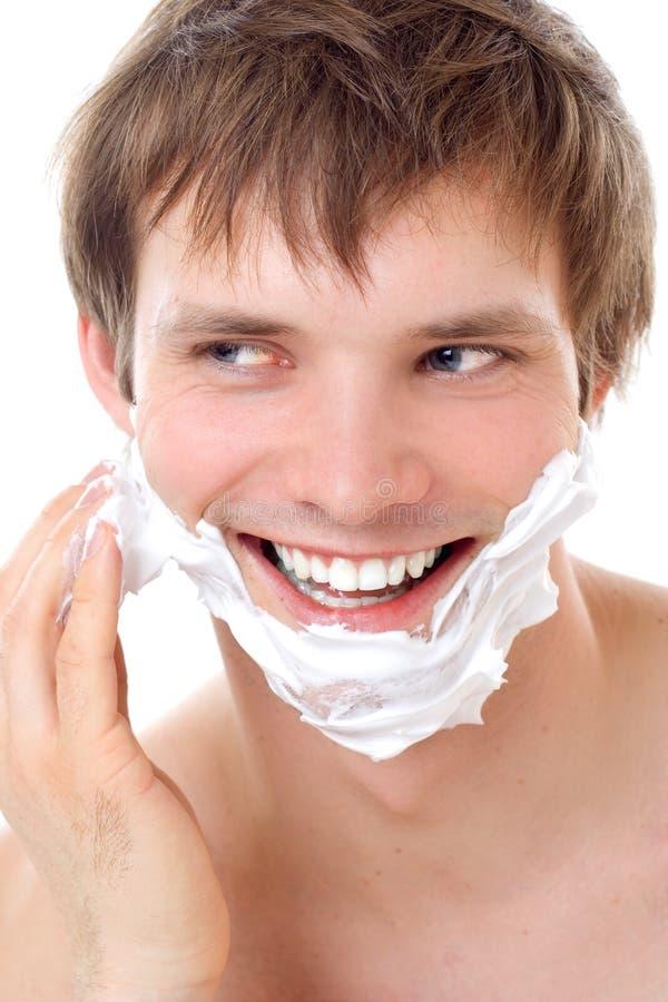 Shaving man