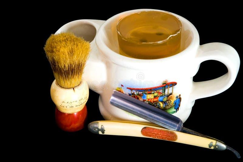 Download Shaving Mug, Straight Razor And Brush Stock Photo - Image: 1662458