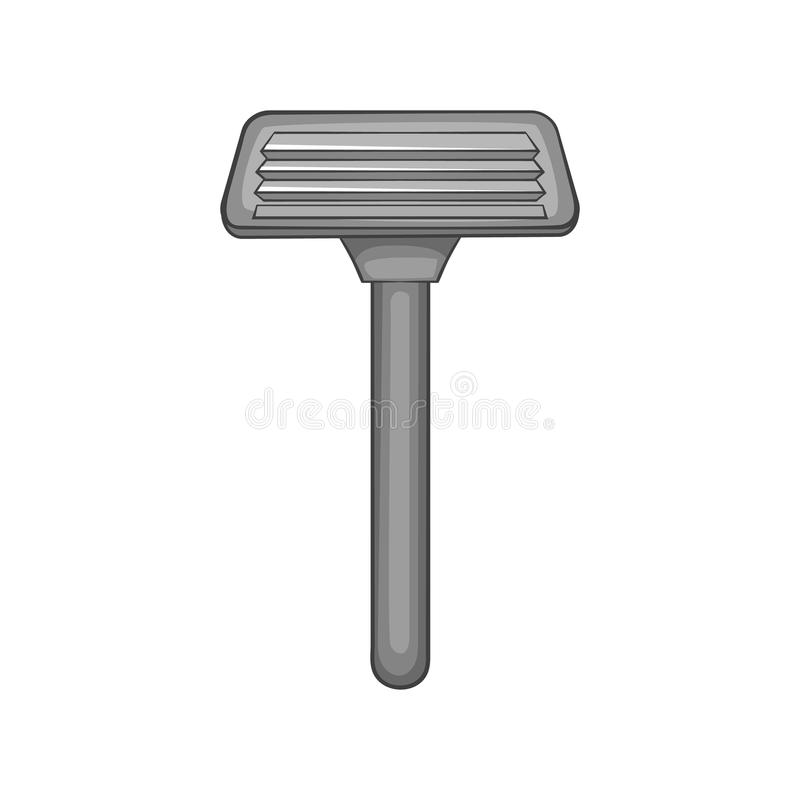Shaving razor icon, black monochrome style royalty free illustration
