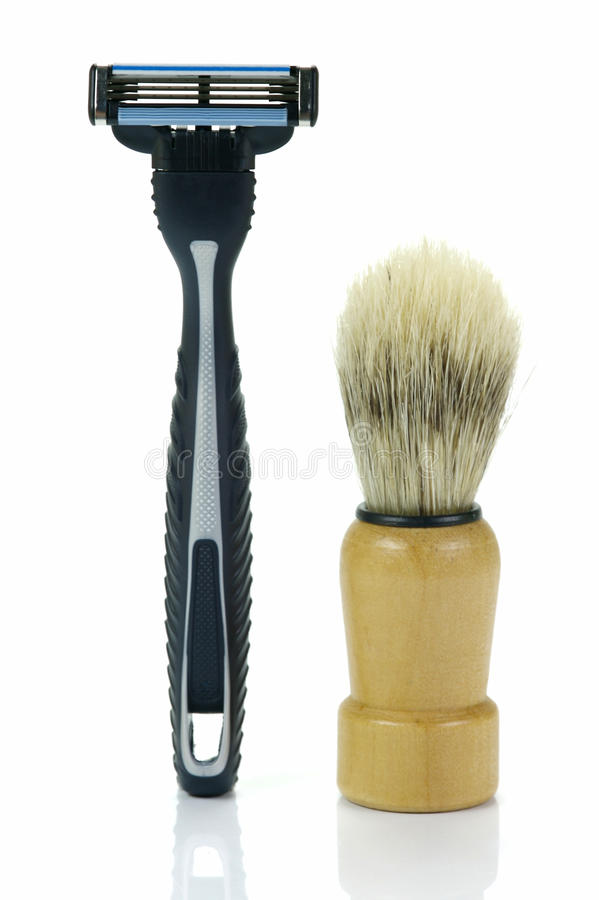 Download Shaving Time stock photo. Image of shave, brushes, bathroom - 9601632