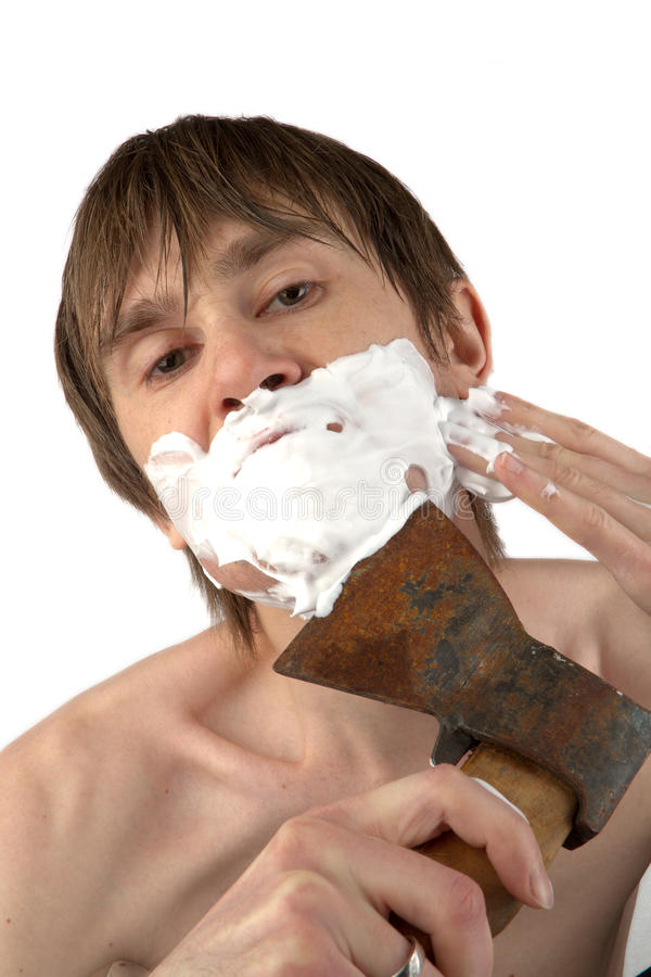 Download Shaving Whith The Axe Stock Image - Image: 22968251