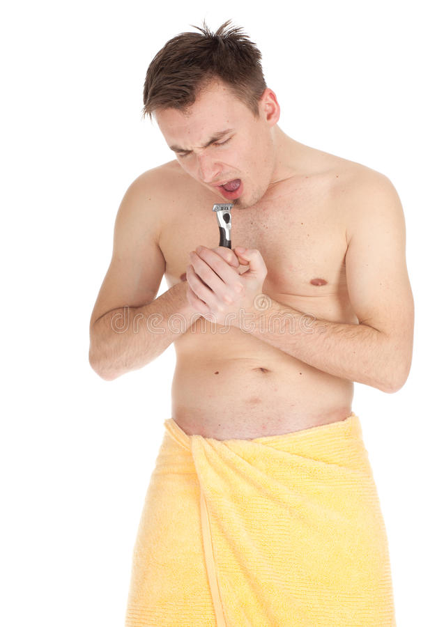 Download Shaving young man stock image. Image of lifestyle, clean - 19266789