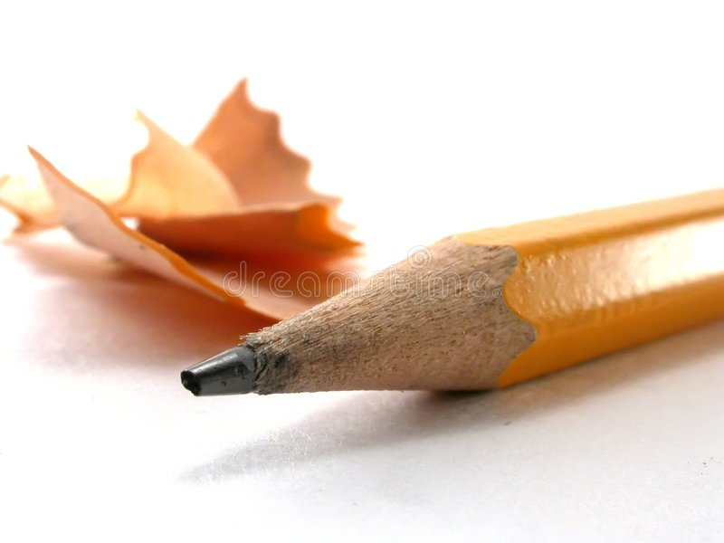 shavings карандаша стоковые изображения rf
