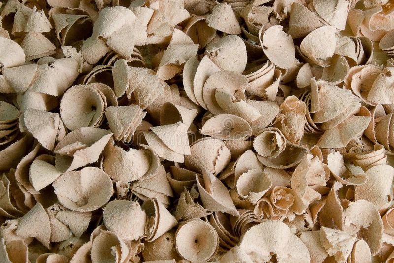 Shavings. Mdf chip, background, texture, product drilling royalty free stock photography