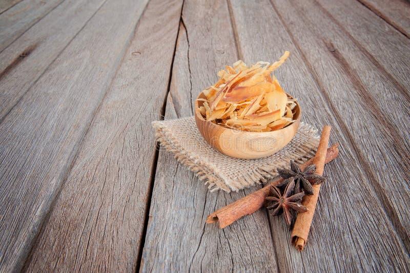 Shavings av den torkade bonitoen, japansk mat arkivbilder