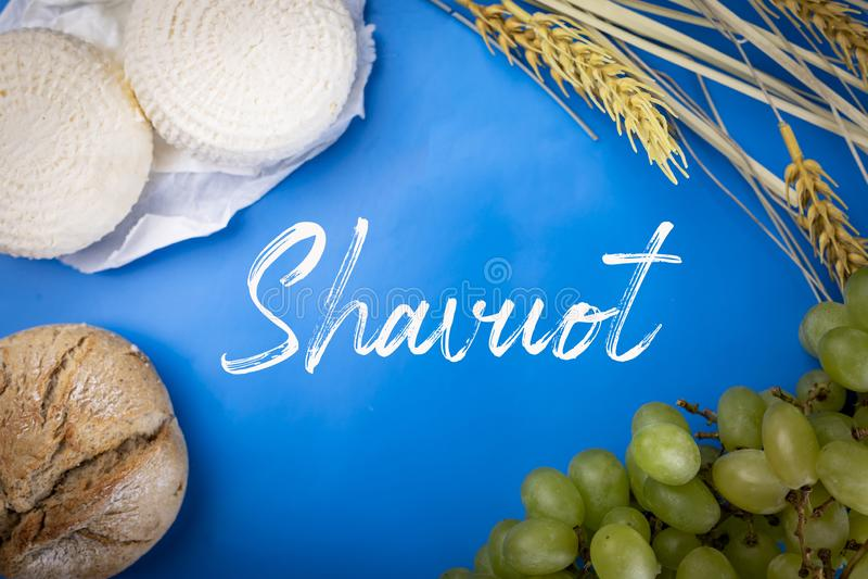 Shavuot é um feriado judaico religioso tradicional fotografia de stock