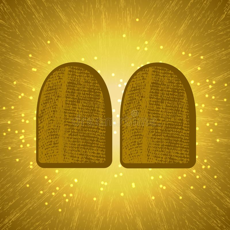 shavuot Konzept des judaischen Feiertags Tablets des Vertrages lizenzfreie abbildung