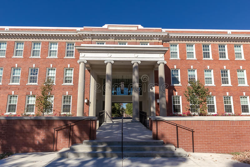 Shaw Hall на UNCG стоковая фотография rf