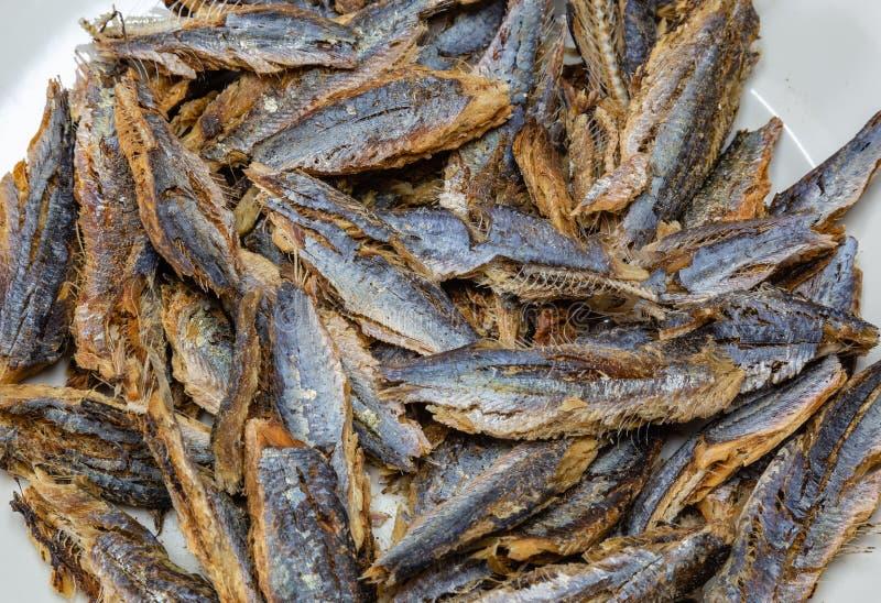 Shawa鱼鲱鱼或沙丁鱼在清洗和去骨前 免版税库存图片