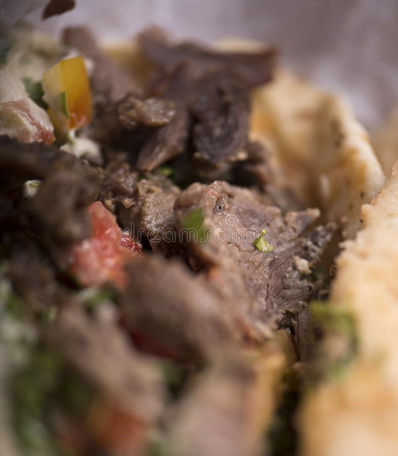 shawarma牛肉sandwiuh 免版税图库摄影