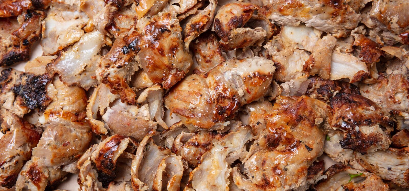 Shawarma,电罗经背景 传统土耳其语,希腊肉食物,特写镜头视图 库存照片
