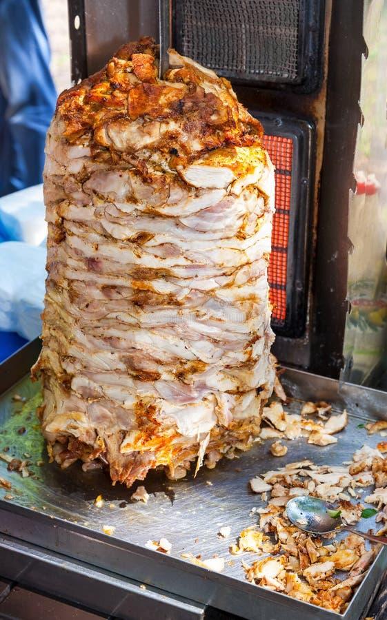 Shawarma одна из самой популярной еды стоковое фото