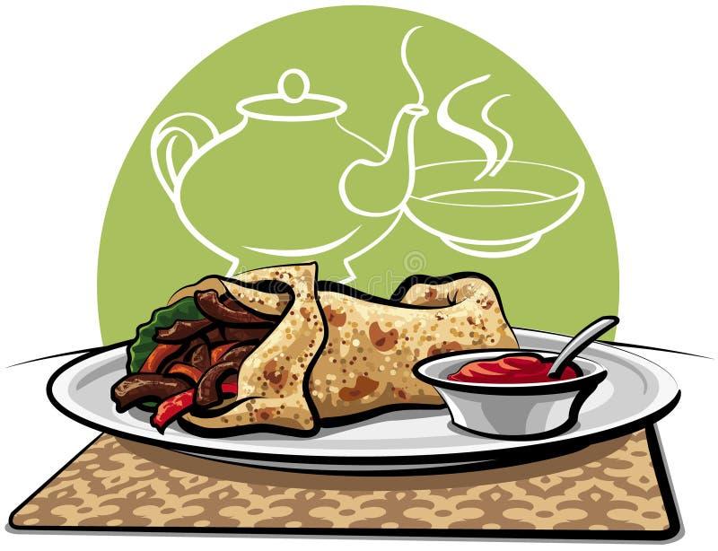 shawarma royalty ilustracja