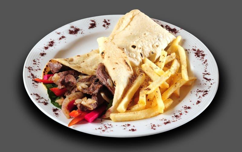 Shawarma. stock afbeelding