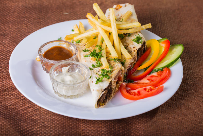 Shawarma immagini stock libere da diritti