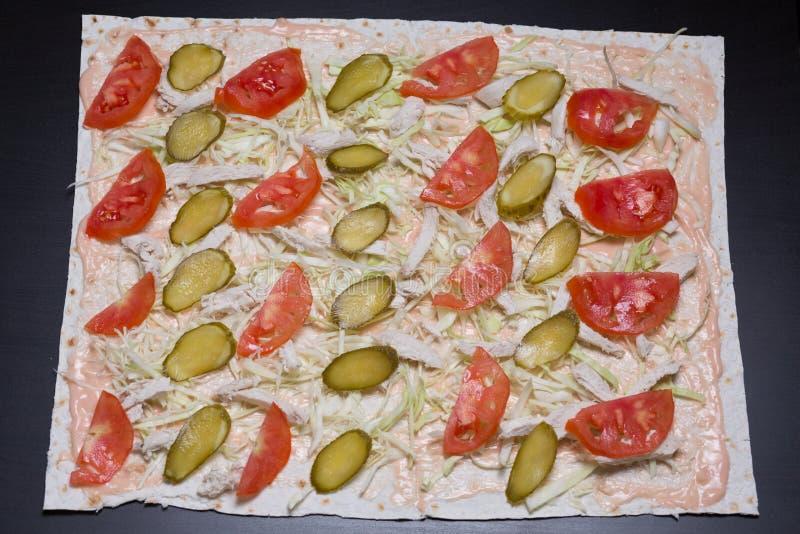 shawarma Casa-feito imagem de stock royalty free