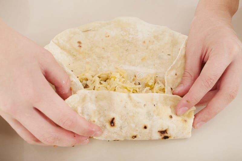 Shawarma fait maison images stock