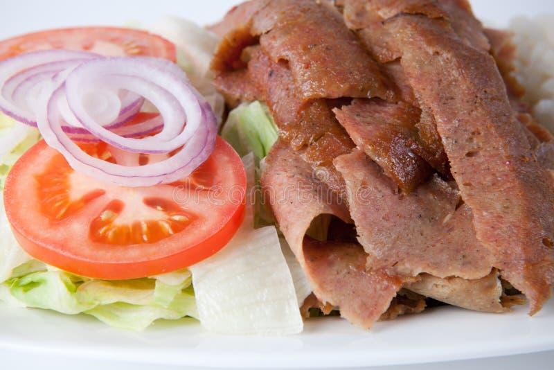 Shawarma op een plaat royalty-vrije stock foto's