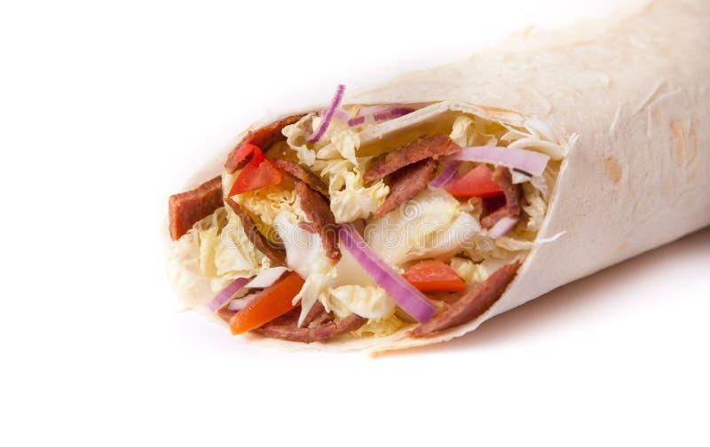 Shawarma préparé frais photo stock