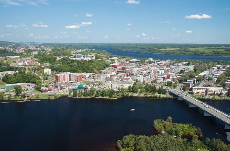shawinigan Quebec powietrzny widok fotografia royalty free